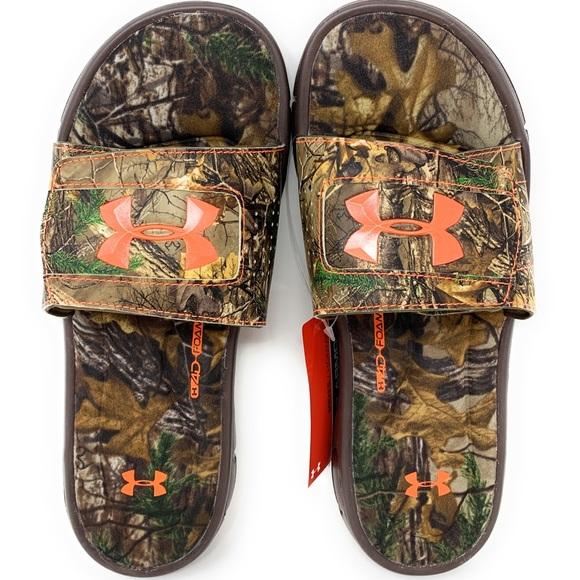 Under Armour Men/'s UA Ignite Camo Camouflage Slide Sandal Size  8  9  10 NEW